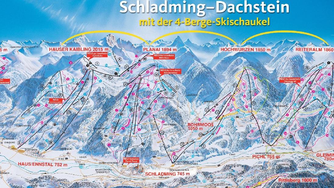 Schladming piste map Lion Alpin
