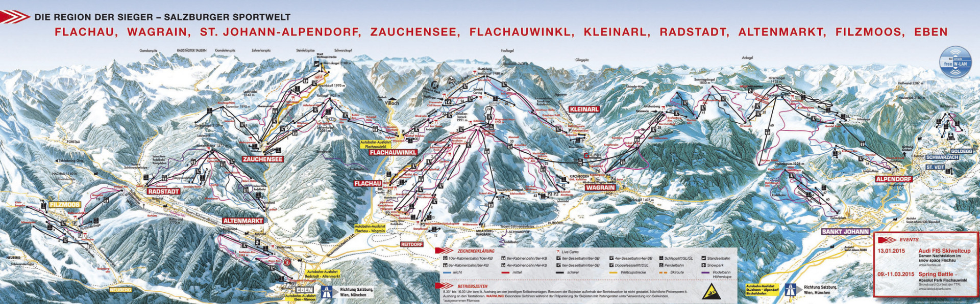 Zauchensee piste map Lion Alpin